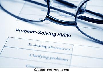 問題解決, 技能