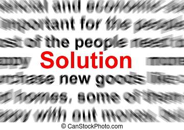 問題, そして, 解決