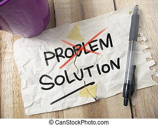 問題, 概念, 解決, 言葉