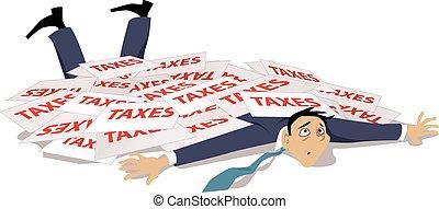 問題, 由于, 稅