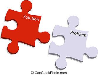 問題, 解決, 困惑