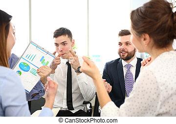 問題, 解決, 束, モデル, 流れ, ビジネスマン, オフィス