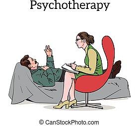 問題, psychologist., 援助, 患者, カウンセリング