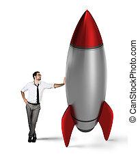 啟動, ......的, a, 新, 公司, 由于, 開始, rocket., 概念, ......的, 商務成長