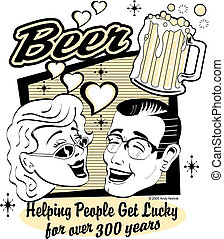 啤酒, 剪花藝術品