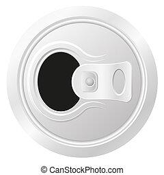 啤酒, 打開, 罐頭, 插圖