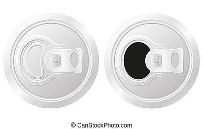 啤酒, 打開, 罐頭, 插圖, 關閉