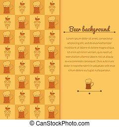 啤酒, 杯子, 蛇麻草, 背景
