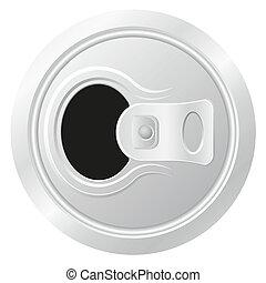 啤酒, 矢量, 打開, 罐頭, 插圖