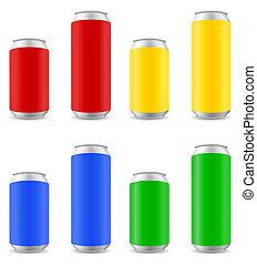 啤酒, 矢量, 顏色, 插圖, 罐頭