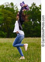 喜び, 女, 跳躍