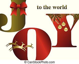 喜び, 抽象的, クリスマス, 背景