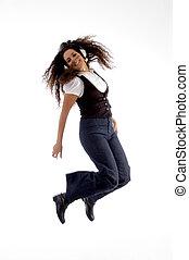 喜び, 跳躍の女性