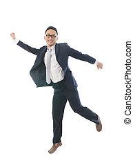 喜び, 跳躍, アジアのビジネス