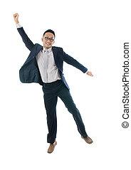 喜び, 跳躍, アジア 人