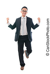 喜び, 跳躍, マレ, アジアのビジネス