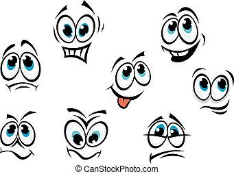 喜剧演员, 卡通漫画, 脸