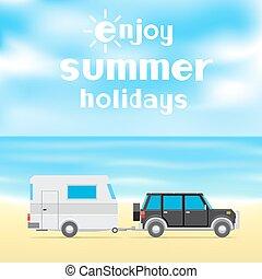 喜愛, 夏天, 假期