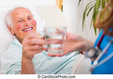 喝酒, 年長者, 病人