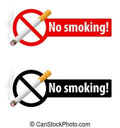 喫煙のサイン, いいえ