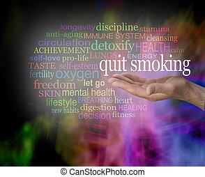喫煙, やめられる, タグ, 単語, 雲