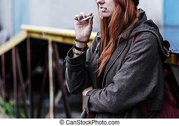 喫煙, ティーネージャー, タバコ