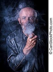喫煙, 人, 低いキー, 肖像画