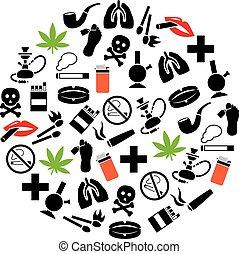 喫煙, 円, アイコン