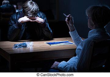 喫煙, 婦人警官, タバコ