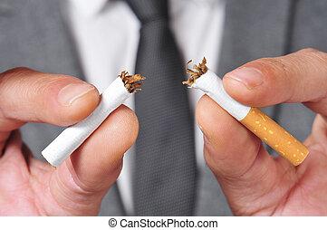 喫煙, 止まれ