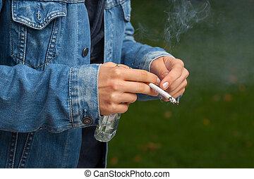 喫煙, 飲むこと, タバコ