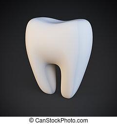 單個, 牙齒
