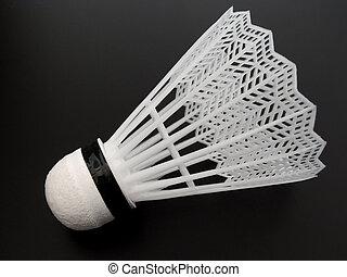 單個, 羽毛球, 上, 黑色