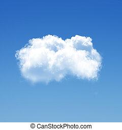 單個, 雲, 3d, 插圖