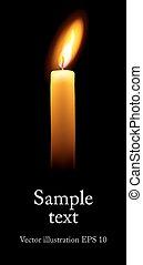 單個, candle.