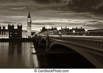 單色, 大本鐘, 倫敦