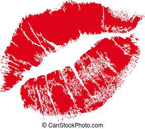 嘴唇, 馬克, 由于, 正文, 空間