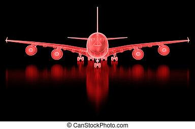 噛み合いなさい, 商用航空機