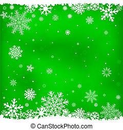 噛み合いなさい, 緑, 雪, 背景