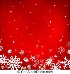 噛み合いなさい, 雪, 背景, 赤