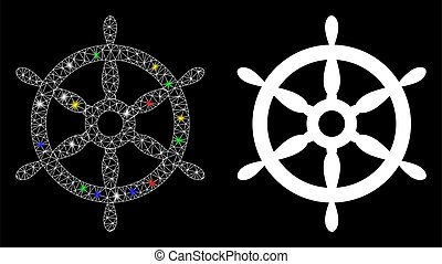 噛み合いなさい, 2d, 点, 火炎信号, 車輪, ステアリング, アイコン, 船