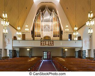 器官, ......的, rovaniemi, 教堂