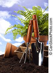 噴壺, 以及, 園藝工具