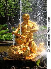 """噴水, ある, """"orange"""", ∥あるいは∥, """"triton, 引き裂くこと, 荒れ, 海洋, monster"""",..."""