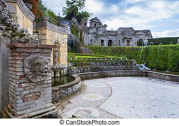 噴水, の, 別荘, este, tivoli, 重要, 世界, 相続財産, サイト, そして, 重要, 旅行,...