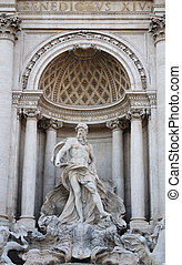 噴水, ローマ, イタリア, trevi