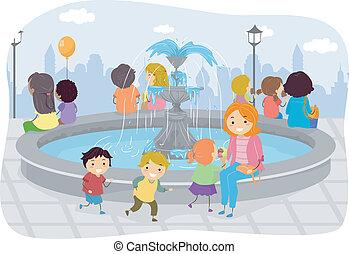 噴水, 家族