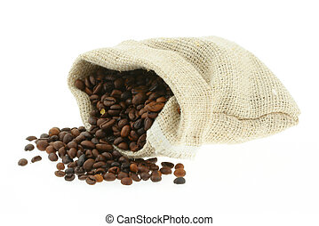 嚢, コーヒー, バーラップ