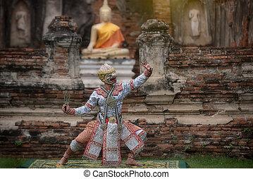 嚴格地,  (hanuman),  khon, 跳舞