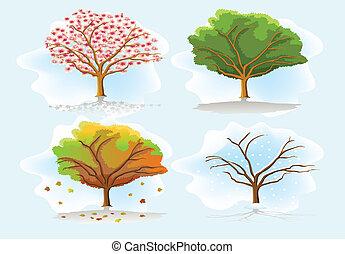 四個季節, 樹